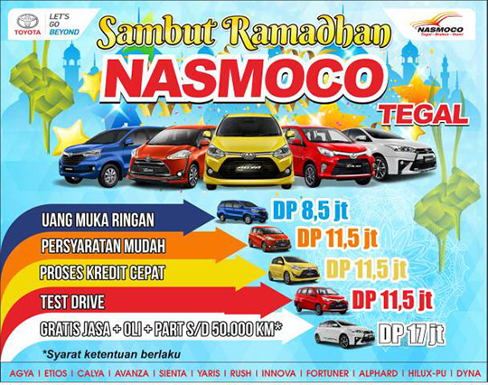 Promo Toyota Namoco Tegal Ramadhan dan Lebaran 2017