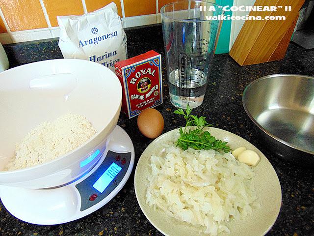 Buñuelos de bacalao ingredientes