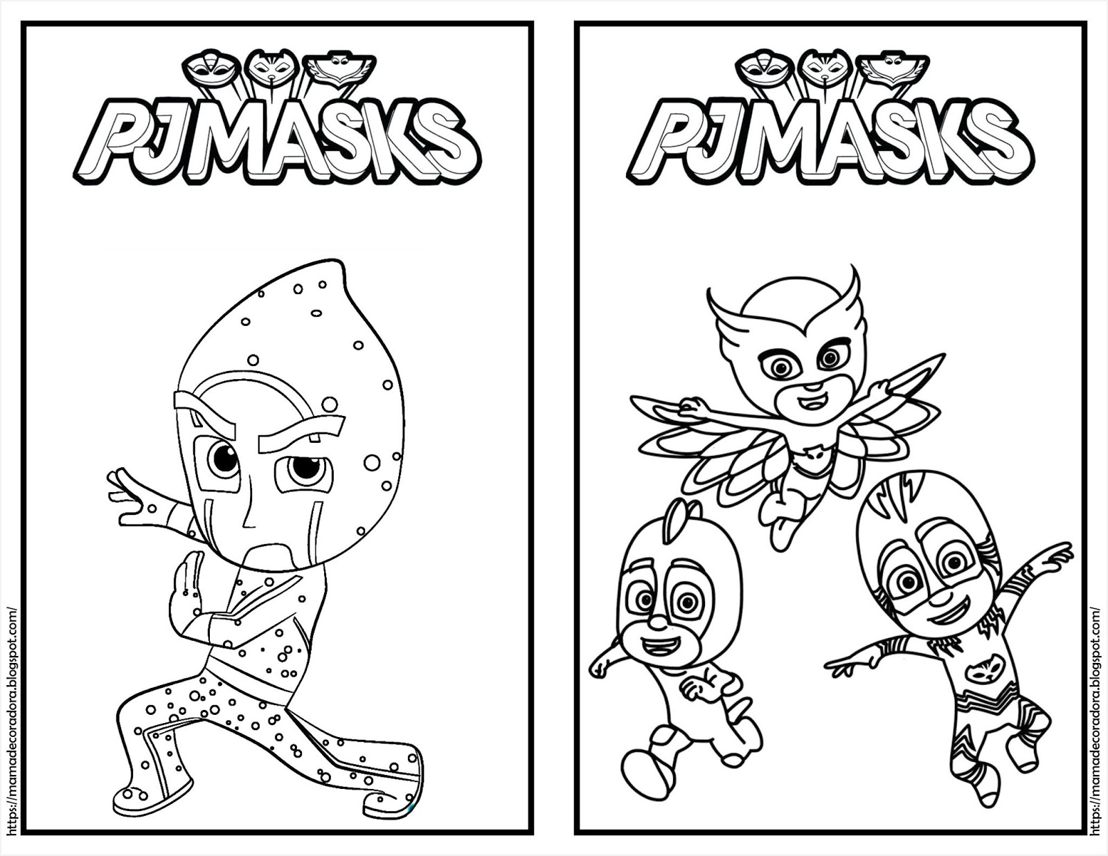 Mamá Decoradora Librito Para Colorear Gratis De Pjmask