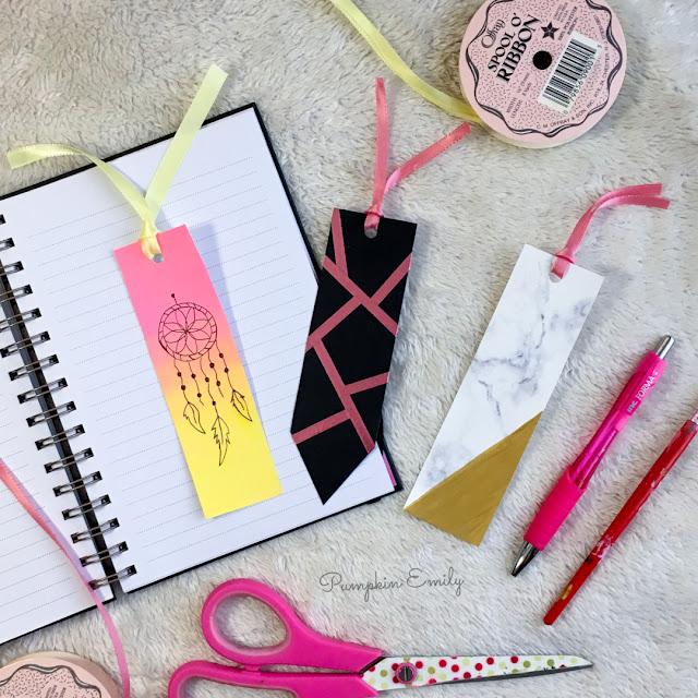 3 Easy DIY Bookmark Ideas  Pumpkin Emily