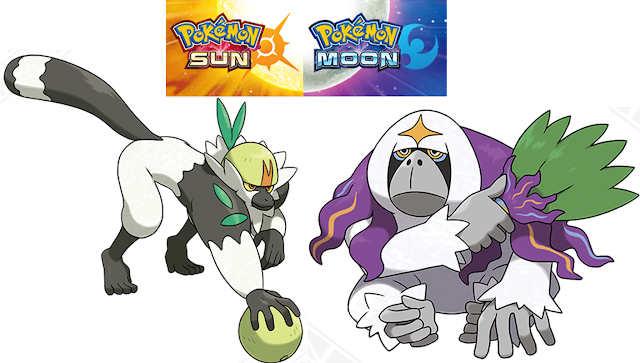 Passimian Oranguru Pokémon Sun Moon version exclusives lemur orangutan