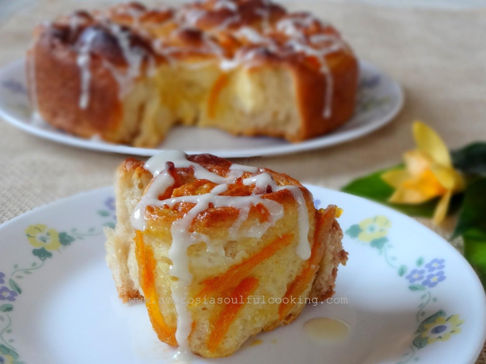 AMBROSIA: Orange Marmalade Rolls | #BreadBakers