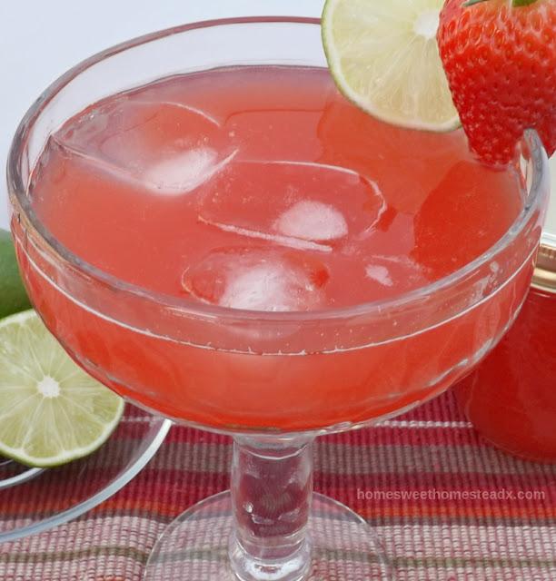 Home Sweet Homestead - Rhubarb Strawberry Margarita