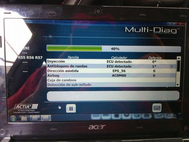 I-2015 Actia Multi diag works no issues on BMW E90, bmw mini