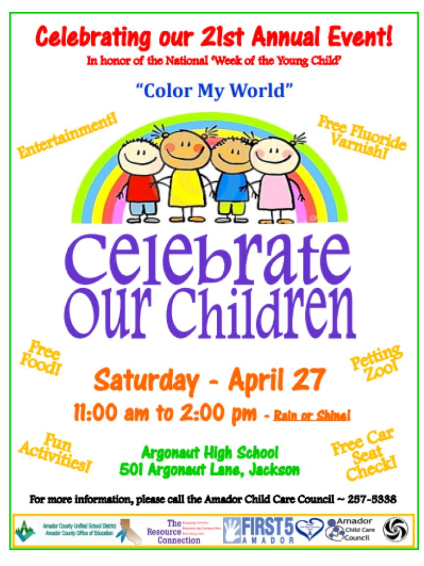 "21st Annual Celebrate our Children: ""Color My World"" - Sat Apr 27"