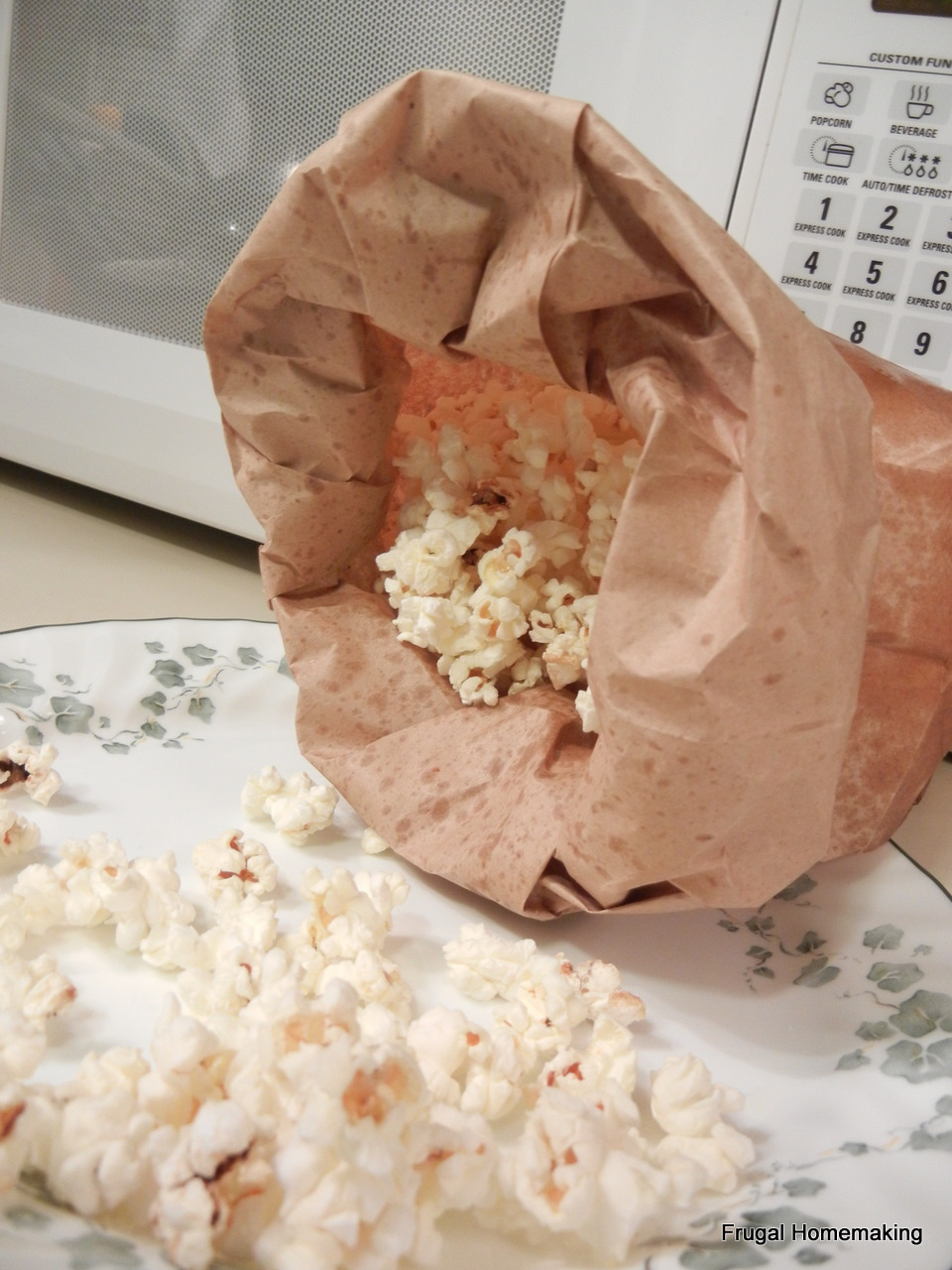 Frugal Homemaking Homemade Kettle Corn  In the Microwave
