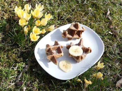Bananen-Zimt-Waffelhappen - Waffle Bites