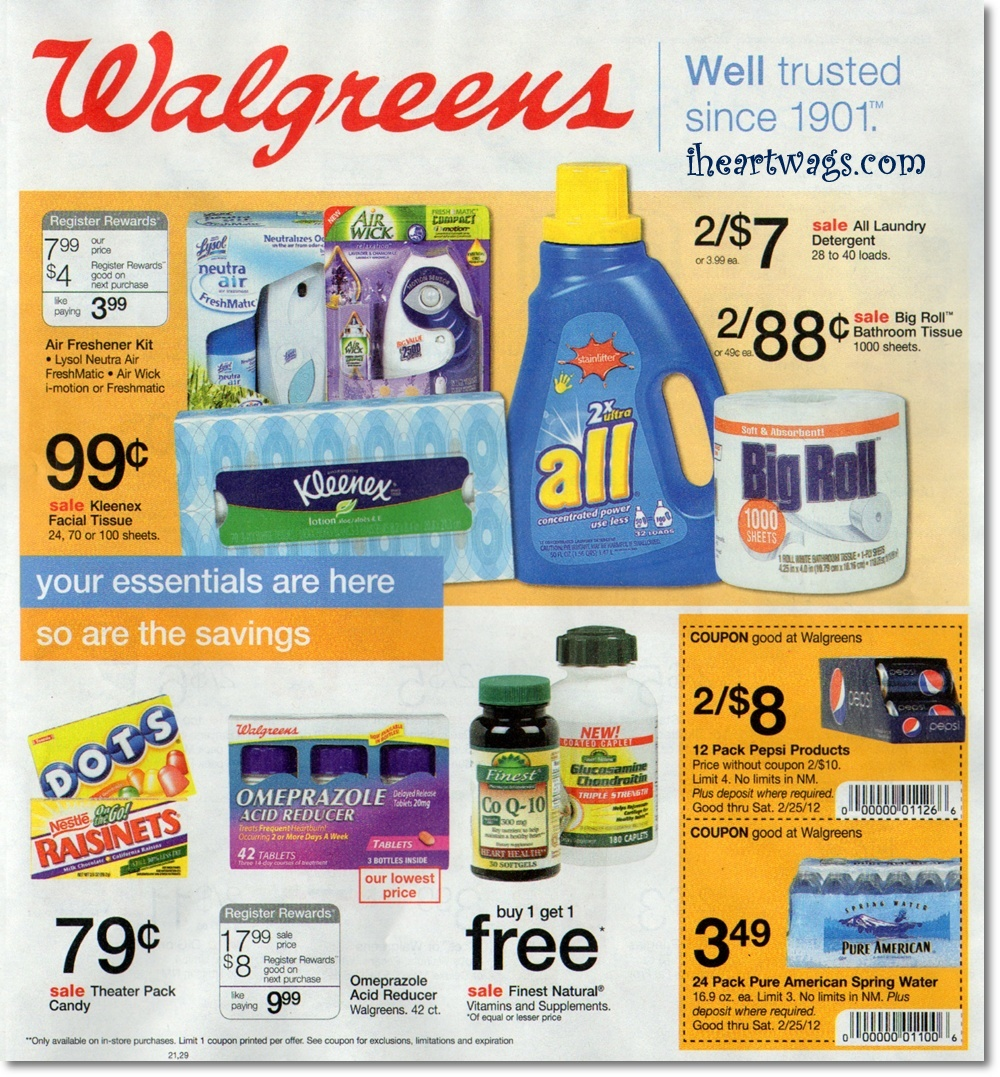 Walgreens Ad Preview 2/19/12 – 2/25/12