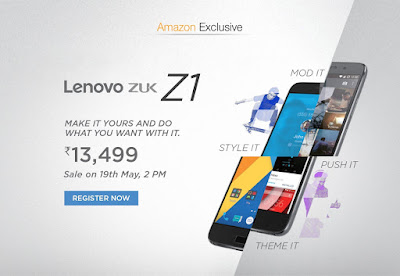 Book Lenovo Zuk Z1 at just Rs 13,499. | May 2016 discount offer on mobiles