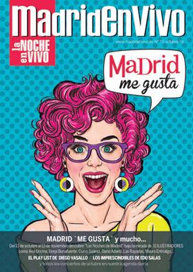 Revista 'Madrid en Vivo'. Agenda de conciertos de música. Octubre 2016