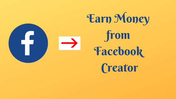 Earn Money from Facebook Creator? - Tech Teacher Debashree