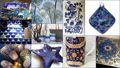 Collage of Blue Items at Present Perfect