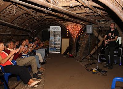 Imágenes del concierto de Octavio Nievski en la Mina Visitable de Barruelo (FEO)