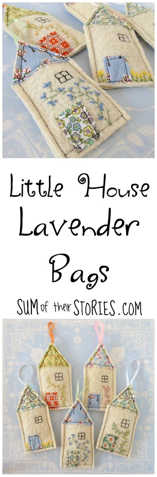 felt house lavender bags