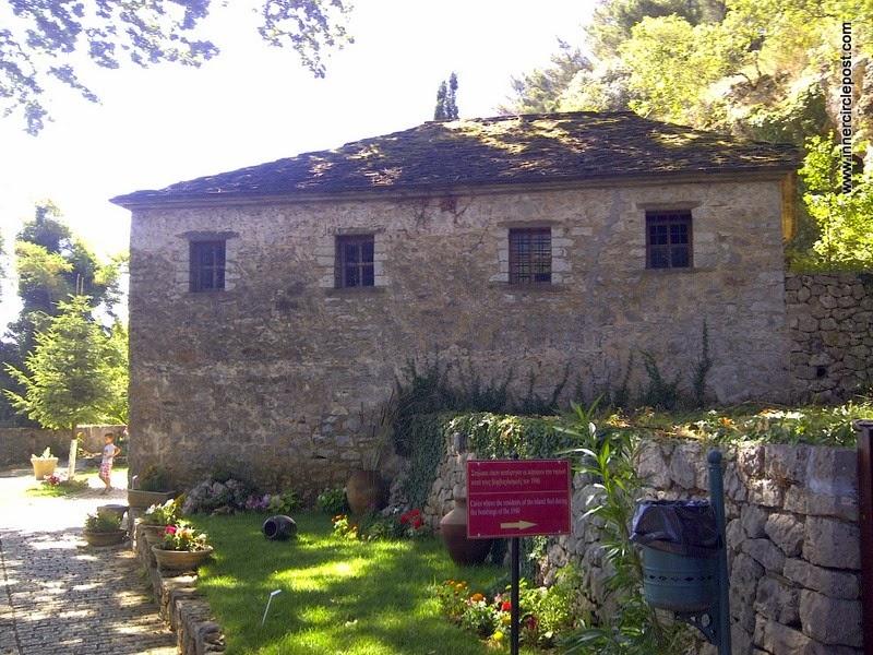 Greece stone house