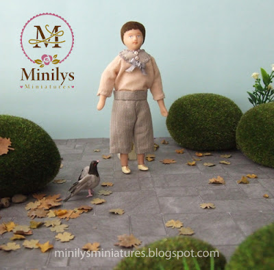 """minilys miniatures"" ""doll dress"" ""park"" 1:12 otoño"
