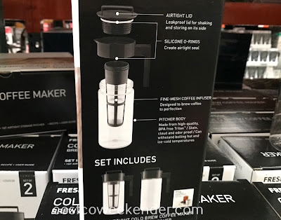 Costco 1050038 - Make several servings of coffee for a party with the Takeya Cold Brew Coffee Maker Brew & Store Set