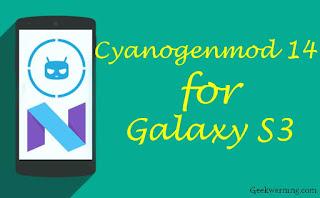 Galaxy-S3-Nougat-Rom