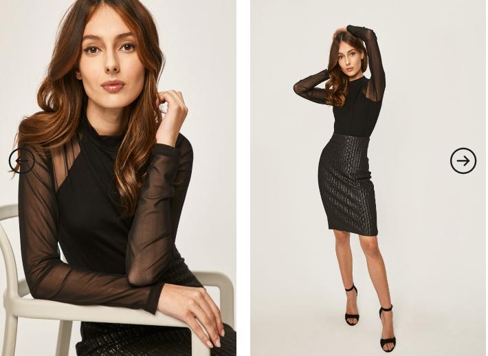Bluza dama neagra transparenta eleganta ieftina din voal Answear