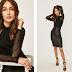 Bluza tip body dama neagra transparenta eleganta ieftina din voal Answear