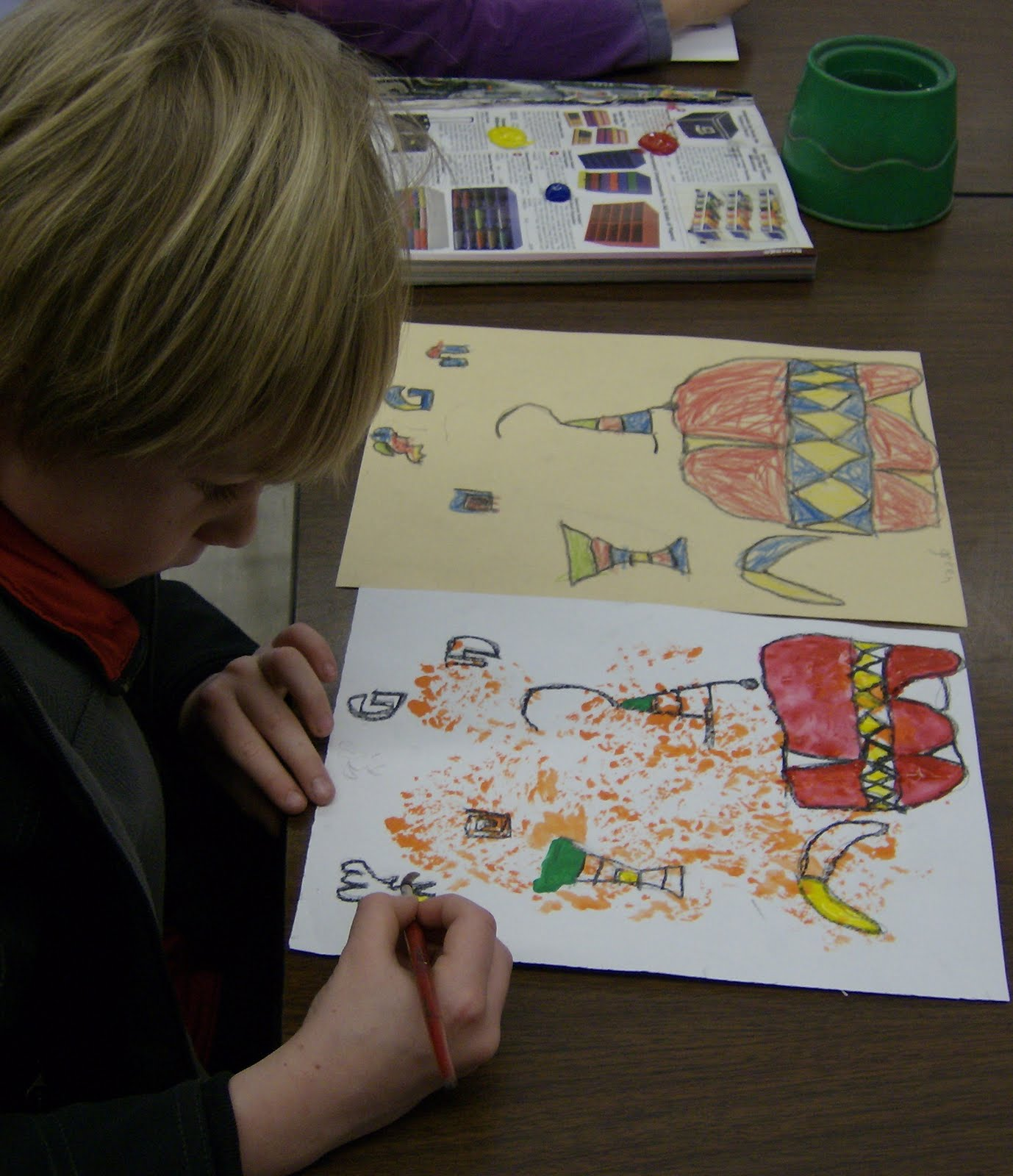 Zilker Elementary Art Class First Grade Joan Miro Paintings