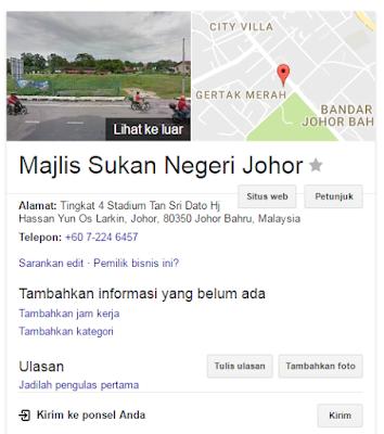 Rasmi - Jawatan Kosong (MSNJohor) Majlis Sukan Negeri Johor Terkini 2019