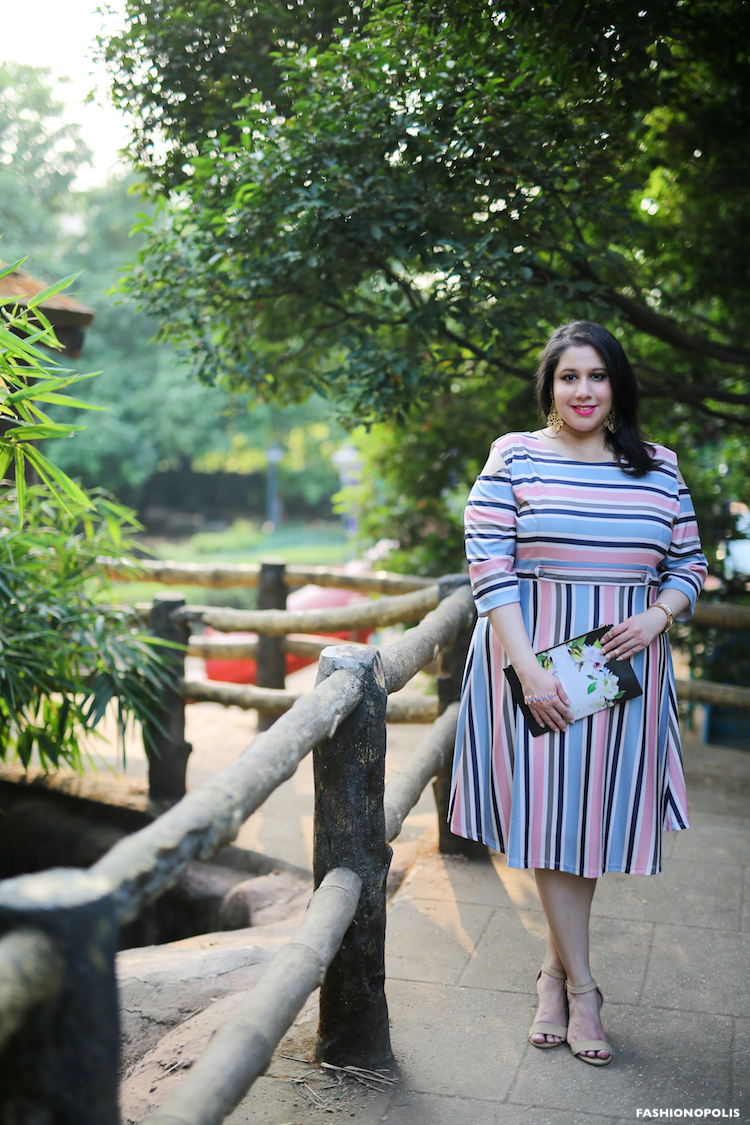Plus Size Stripe Dress