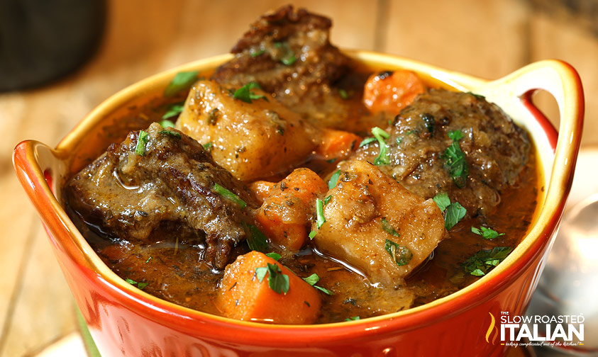 BEST EVER Hearty Beef Soup! With juicy tender chucks of beef that melt ...