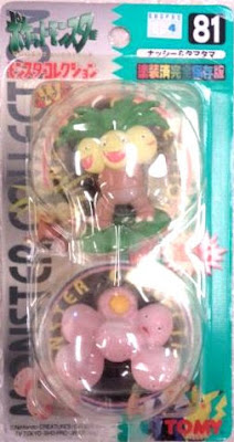 Exeggcute Pokemon figure Tomy Monster Collection series