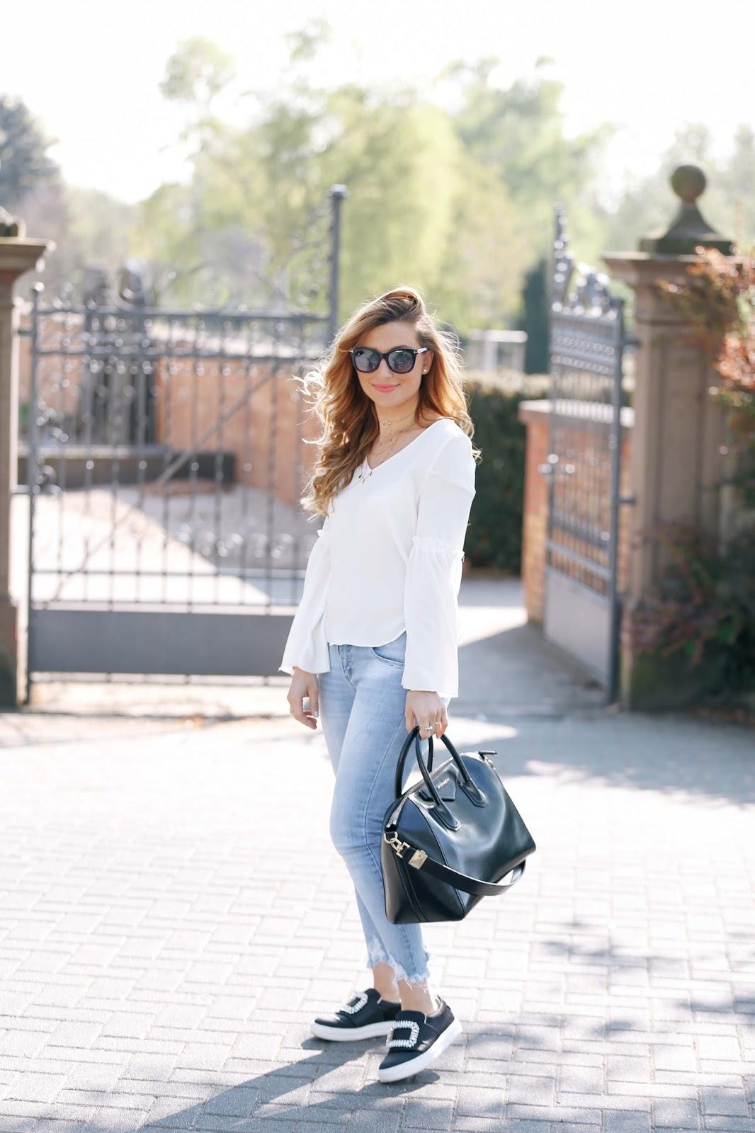 wie trage ich eine weiße bluse chic und cool?