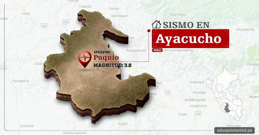 Temblor en Ayacucho de 3.8 Grados (Hoy Martes 9 Mayo 2017) Sismo EPICENTRO Puquio - Lucanas - IGP - www.igp.gob.pe