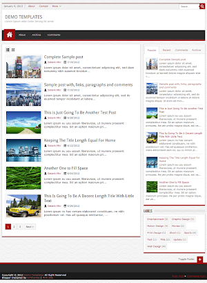 JPStation Red Blogger Template