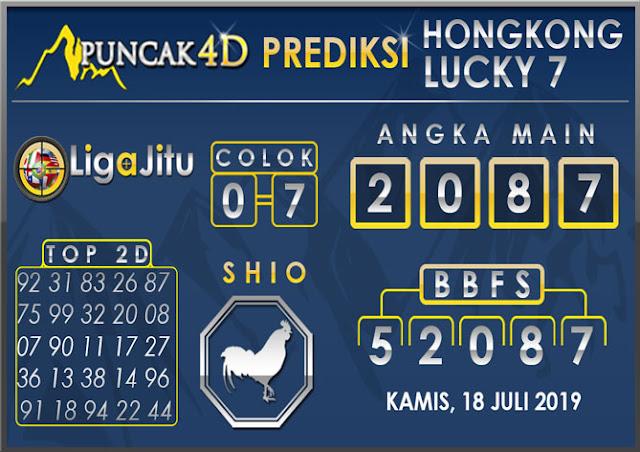 PREDIKSI TOGEL HONGKONG LUCKY7 PUNCAK4D 18 JULI 2019