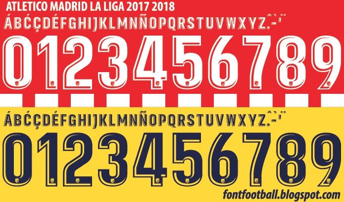 FONT FOOTBALL: Font Vector Atletico Madrid La Liga 2017 2018 kit