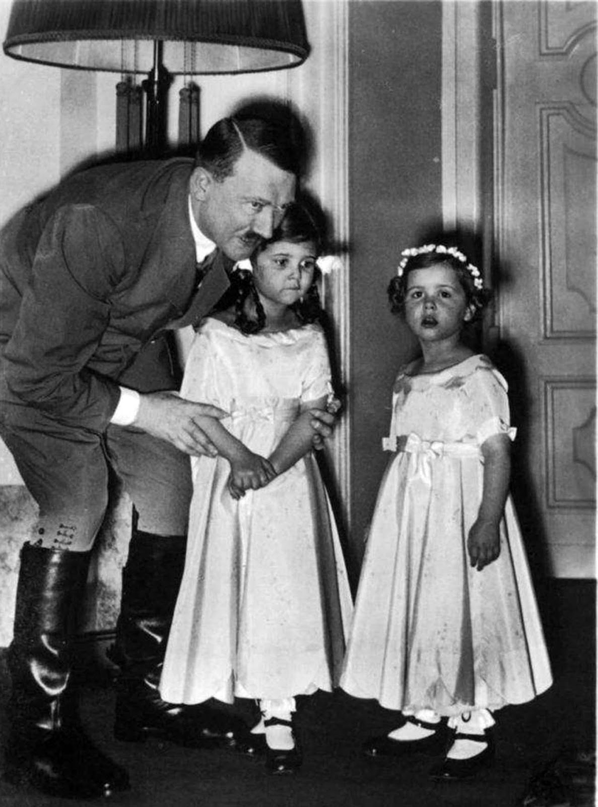 Towards the end of the war, in the Führerbunker, while Hitler's secretaries kept all the other children distracted and happy, one of the secretaries, Traudl Junge, wrote that Helga looked visibly upset.