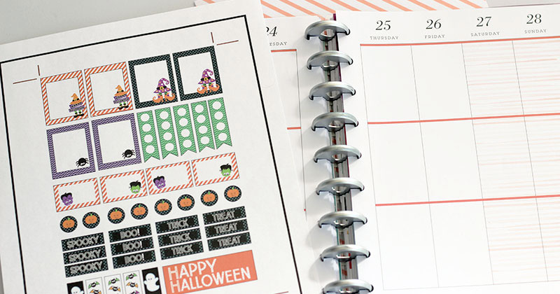 picture relating to Free Printable Happy Planner Stickers titled No cost Printable Halloween Planner Stickers (Suits Satisfied