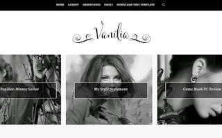 Vanilia Blogger Template