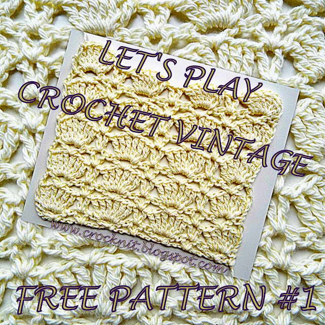 free crochet patterns, vintage crochet, lets play, shells pattern