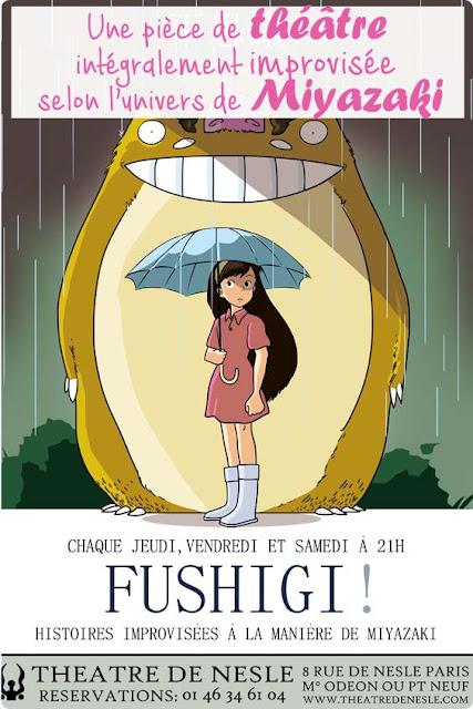 Sortie théâtre  FUSHIGI : quand l'univers de Miyazaki est poétiquement improvisée