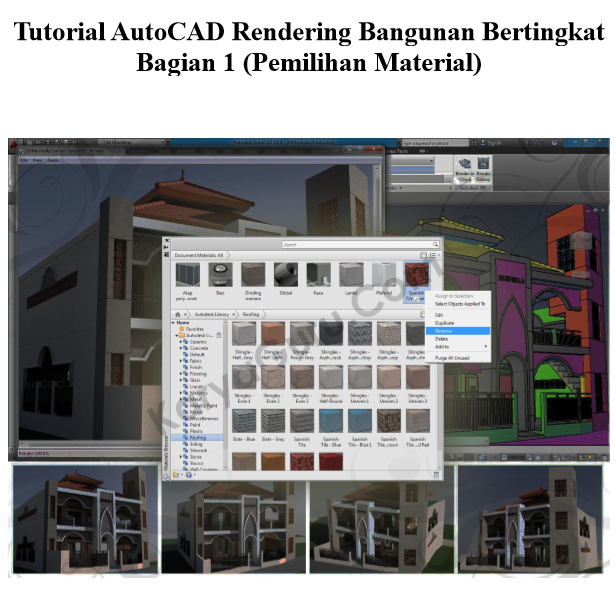 Ebook AutoCAD Rendering Bangunan Bertingkat Lengkap