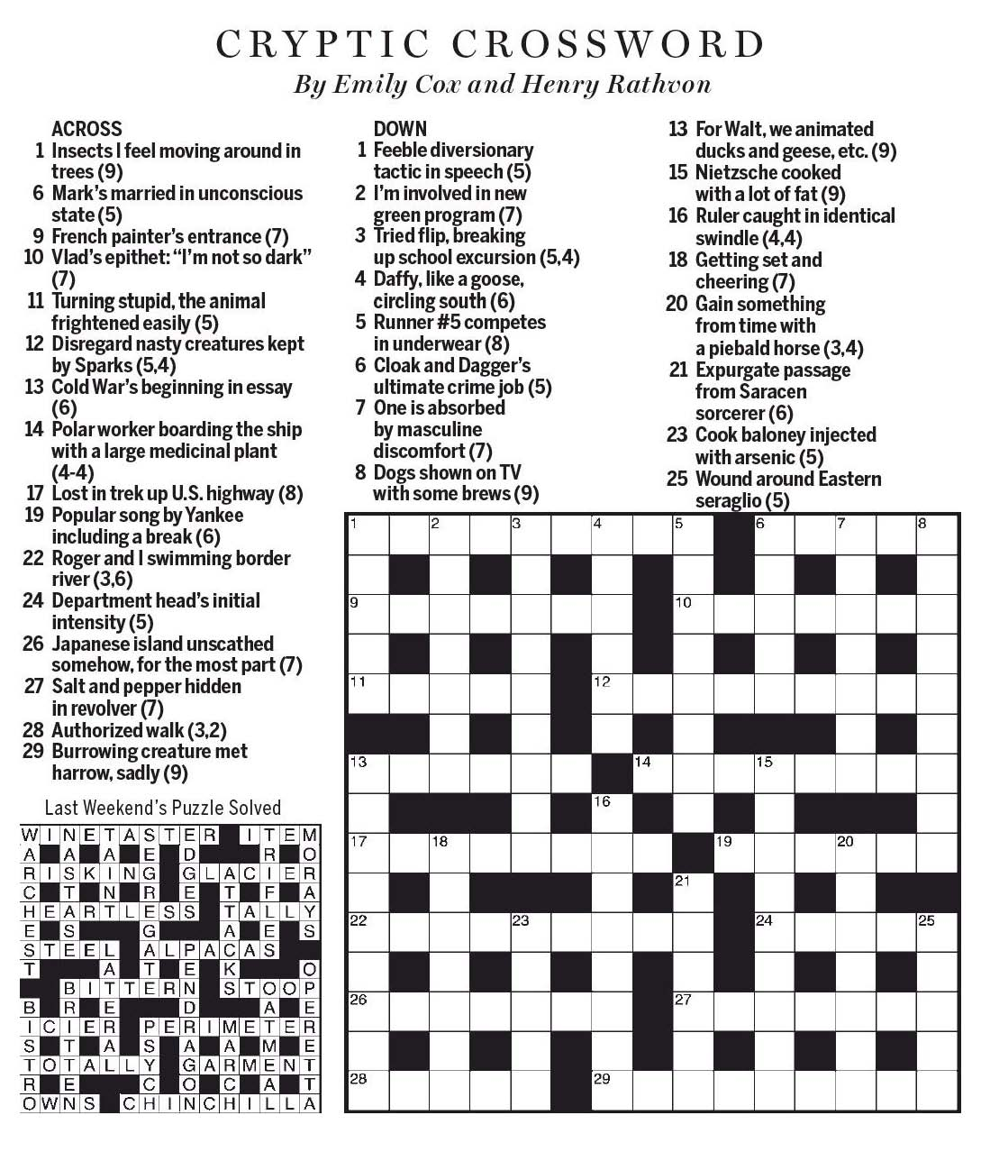 National post cryptic crossword forum saturday january 13 2018 introduction spiritdancerdesigns Images