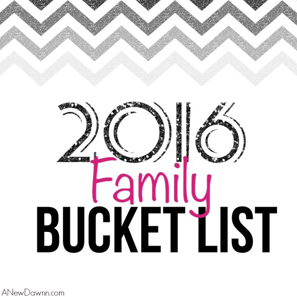 2016 Family Bucket List