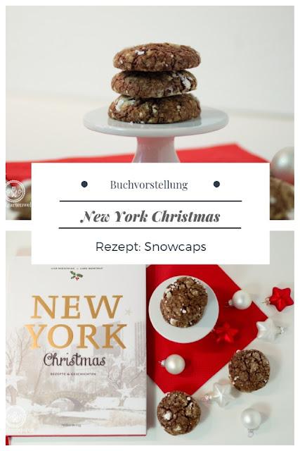 {Buchwerbung} Tolle Ideen für Gerichte, Plätzchen und Süßspeisen passend für Weihnachten liefert das Buch New York Christmas erschienen im Hölker-Verlag. Ich habe mich für Snowcaps - feine Schokoladenkekse bzw. Schokoladeplätzchen entschieden. #weihnachten #plätzchen #schokolade