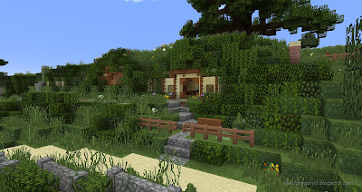 minecraft hobbiton build bag end