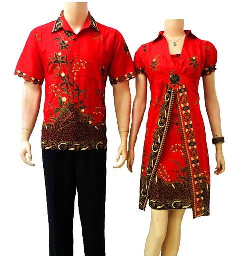Contoh Gambar Baju Batik Modern: Batik Modern Model Baju Batik Wanita Pria Sarimbit Terbaru