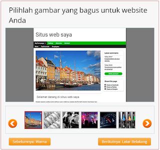 pilih gambar untuk website