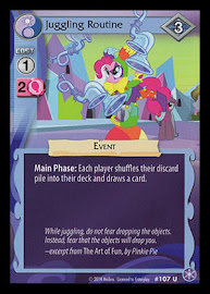 My Little Pony Juggling Routine The Crystal Games CCG Card