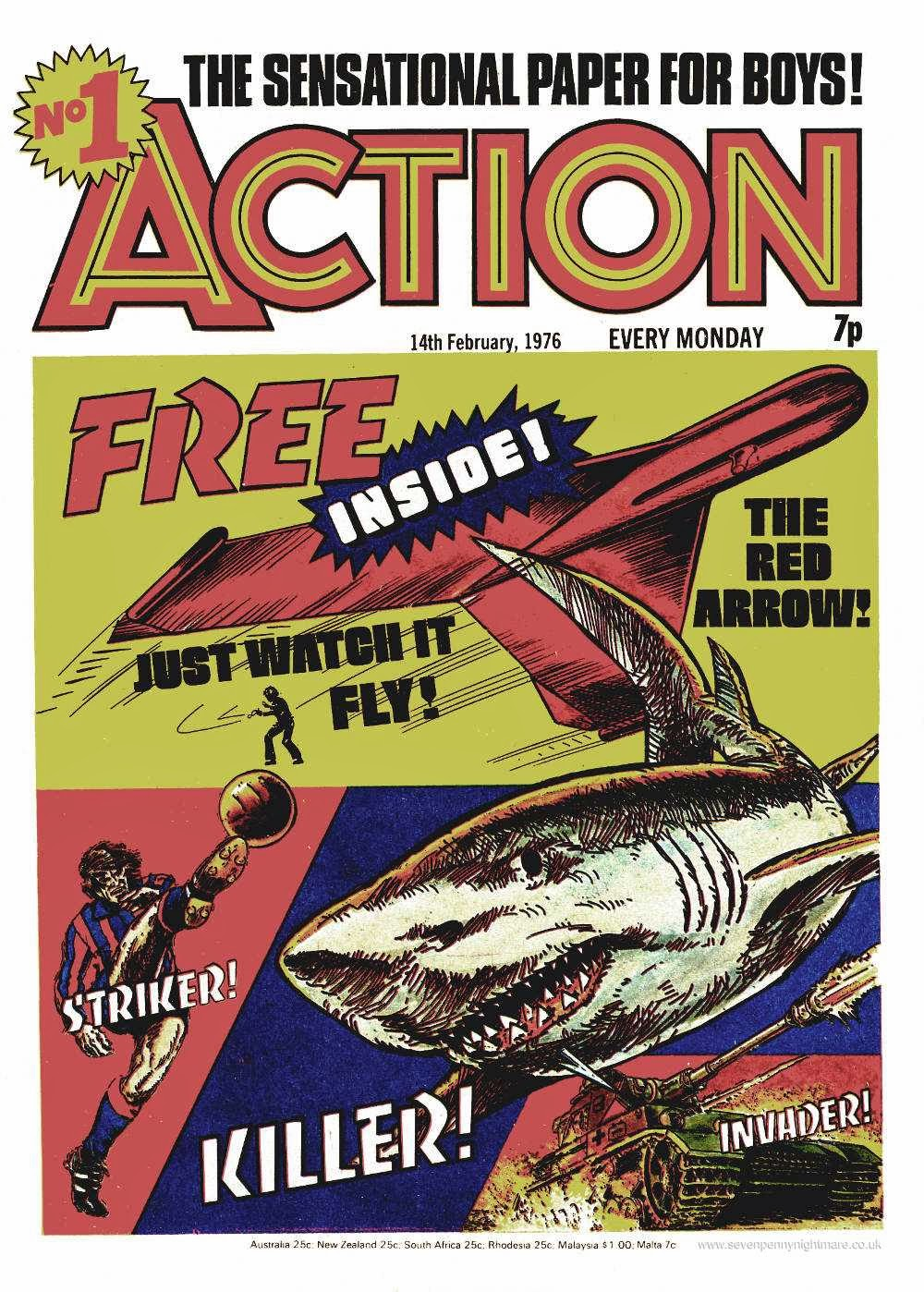 Figure 190: The first issue of Pat Mills's controversial classic Action.