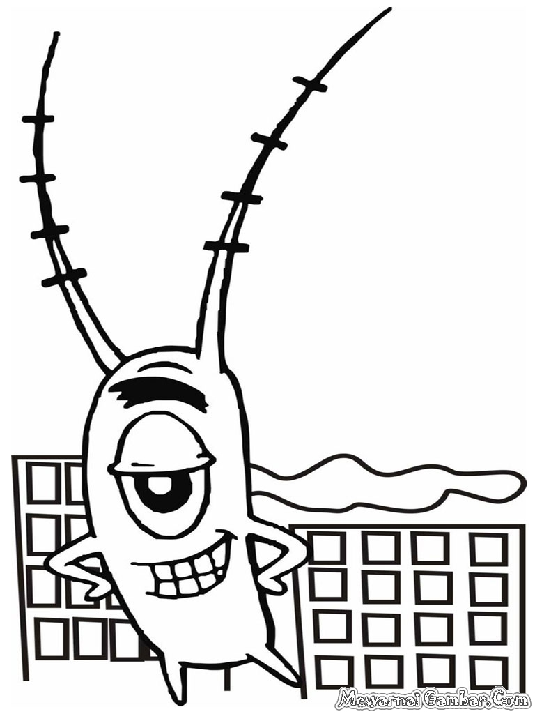 Mewarnai Gambar Plankton  Mewarnai Gambar