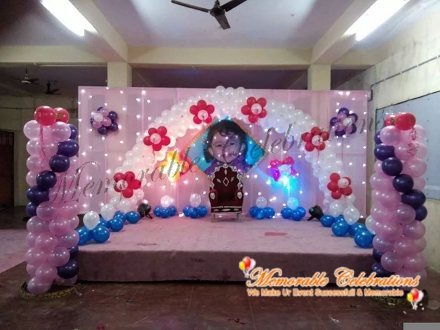 Birthday party decorations for Balloon decoration in hyderabad